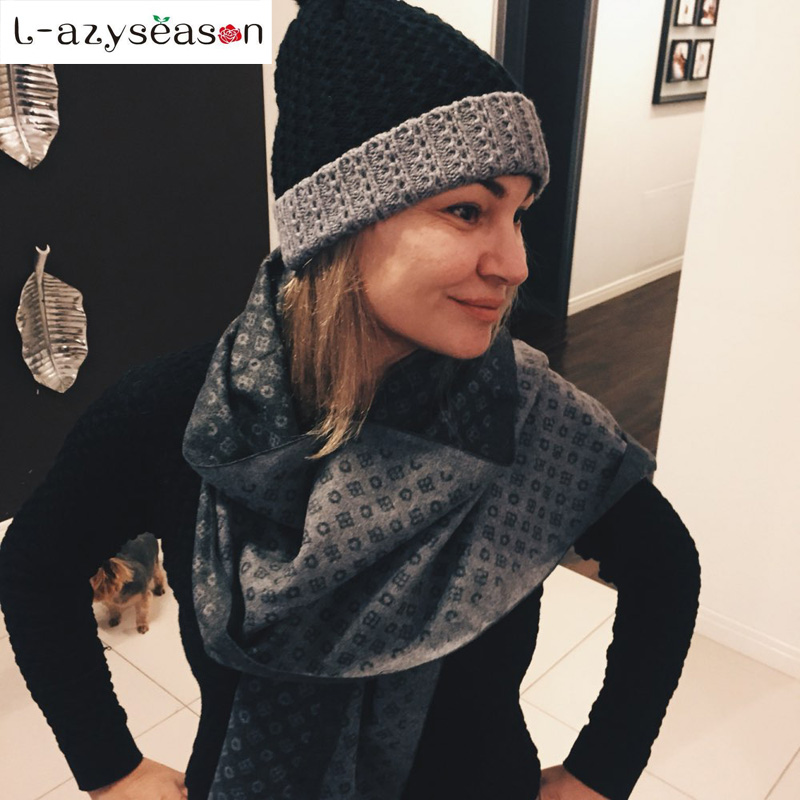 2018 Fashion Design Women   Scarf   Luxury Brand High Quality Neckerchief men Winter Warm Soft Fringe Shawls   Wraps   Unisex   Scarves