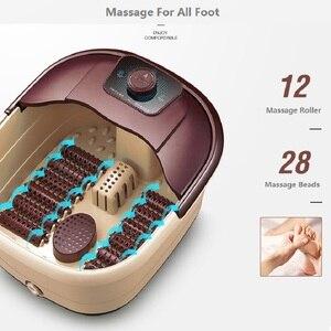 Image 5 - יוקרה רגל ספא אמבט לעיסוי Bub עם אינפרא אדום חום מחומם רגל לספוג + 12 מתגלגל עיסוי גלגלים
