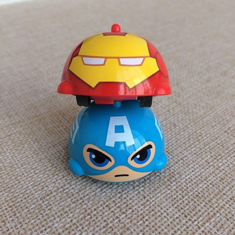 Disney Marvel inertial toy car Avengers gyro toys Multiple game modes rotation toy Gyro car spinning on finger Gift for children