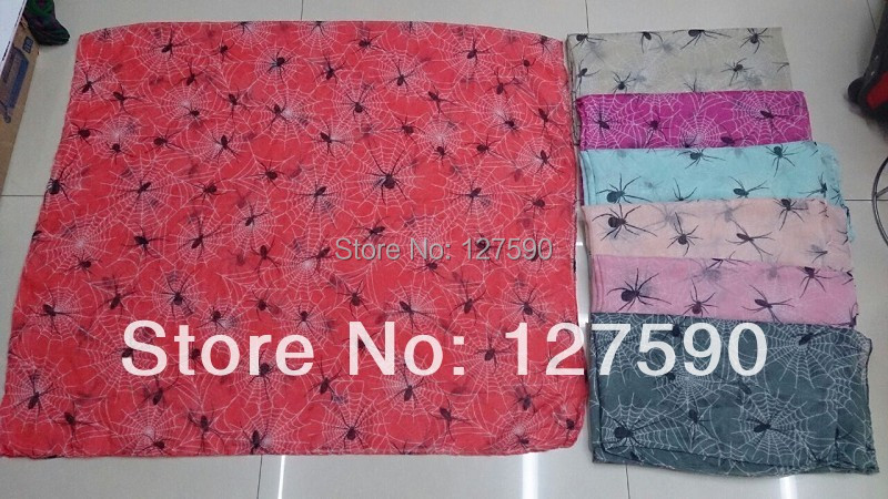 2016 Fashion Women Spider Print Scarf Shawls Animal Print Voile Wrap - Հագուստի պարագաներ - Լուսանկար 3