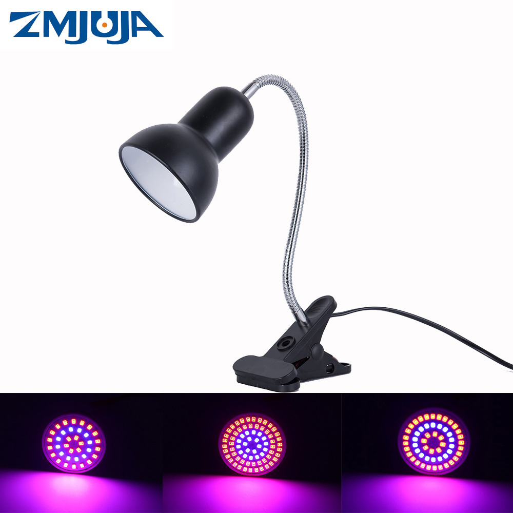 Clip Led Plant Grow Lights E27 Spectrum Indoor Grow Led Bulbs 220V Growing Lamp For Plants Hydroponic System Indoor Garden Green