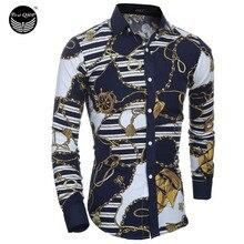 Men Long Sleeve Shirt Plaid Male High Quality Tops Shirt Fashion Mens Dress Shirts Slim Hawaiian Large Size XXL