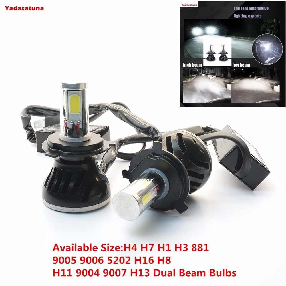 2*80W 8000lm Car H4 Hi/Low Turbo Led headlight Driving Lamp(H7 H1 H3 881 9005 9006 5202 H16 H8 H11 9004 9007 H13 Dual Beam Bulbs