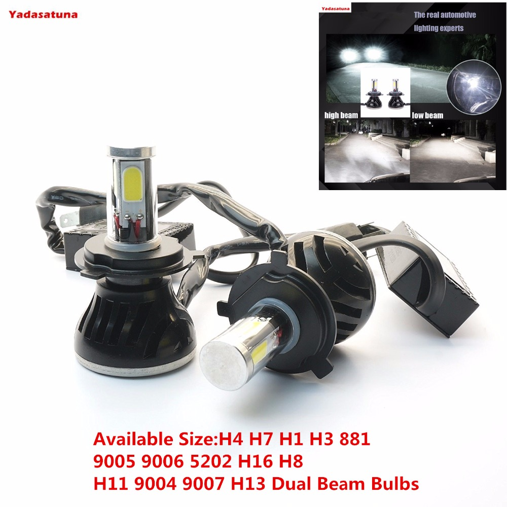 2*80W 8000lm Car H4 Hi/Low Turbo Led headlight Driving Lamp(H7 H1 H3 881 9005 9006 5202 H16 H8 H11 9004 9007 H13 Dual Beam Bulbs 12v led light auto headlamp h1 h3 h7 9005 9004 9007 h4 h15 car led headlight bulb 30w high single dual beam white light