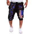 Nova Marca de Moda Casual Shorts Mens Calças Elásticas Calções Basculador Homens de Fitness Calças Curtas Desgaste 13DK01