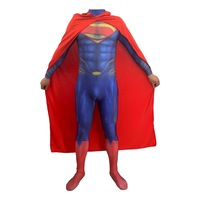 Superman Man of Steel Cosplay Costumes Tights Jumpsuits Men Boys Superhero Event Party Costumes Zentai Suit with Cape