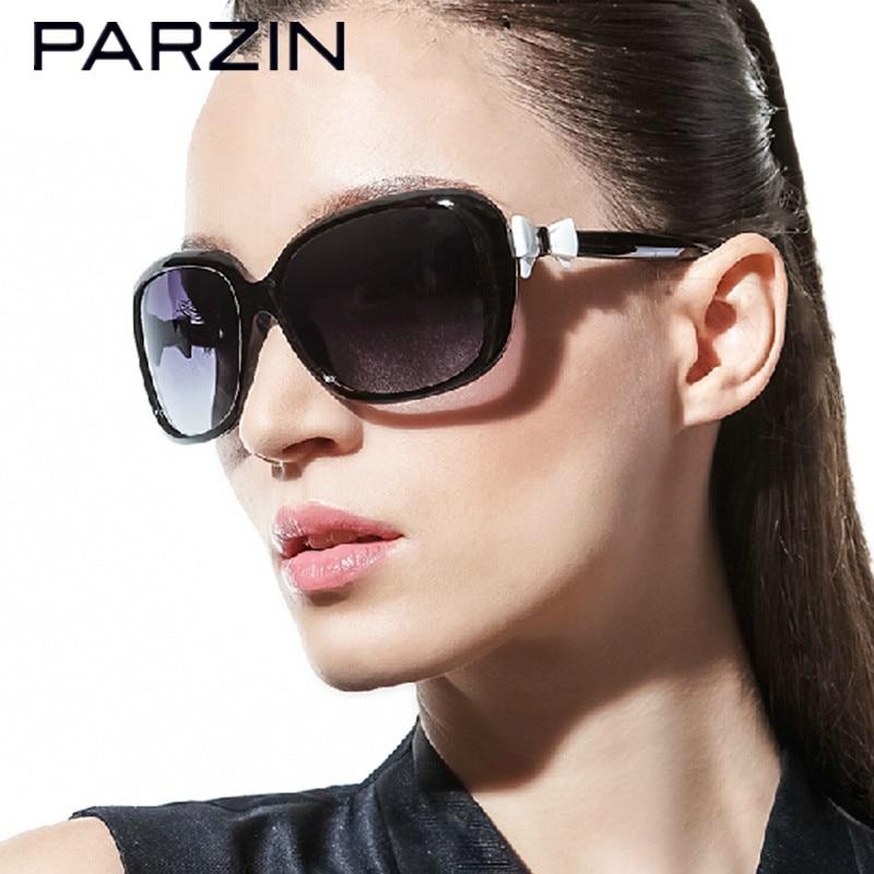 Parzin Bow Sunglasses Women Fashion Rectangular Polarized Women Sunglasses Oculos De Sol Feminino Gafas With Case 9288 feidu 2015 brand designer high quality metal sunglasses women men mirror coating лен sun glasses unisex gafas de sol