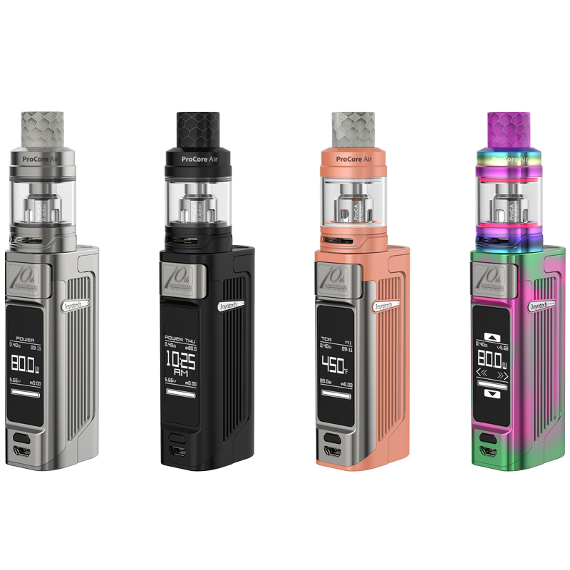 Original Joyetech ESPION Solo 80W Kit With 18650/21700 Battery and Procore Air Atomizer 4.5ml Electronic-Cigarette Vaporizer original joyetech procore remix tank 2ml 4 5ml rta rda sub ohm atomizer support dual single coil electronic cigarette tank