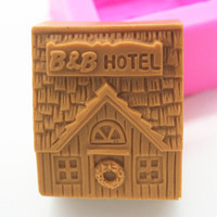Silicone soap mold C352 Hotel houseHandmade fondant cake chocolate clay mould wholesale mould tools