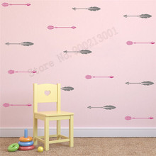 Room Decoration Two Color Arrow Wall Sticker Vinyl Removeable Poster Small Pattern Mural Kids Nursery Room Ornament LY531 цена 2017
