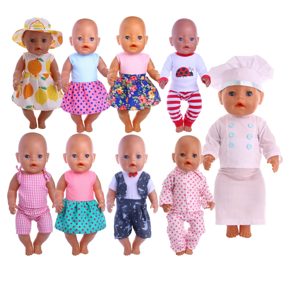 Doll Clothes Handsome Suit Wear For 18 Inch American Doll & 43 Cm Baby Doll For Our Generation  Girl`s Toy