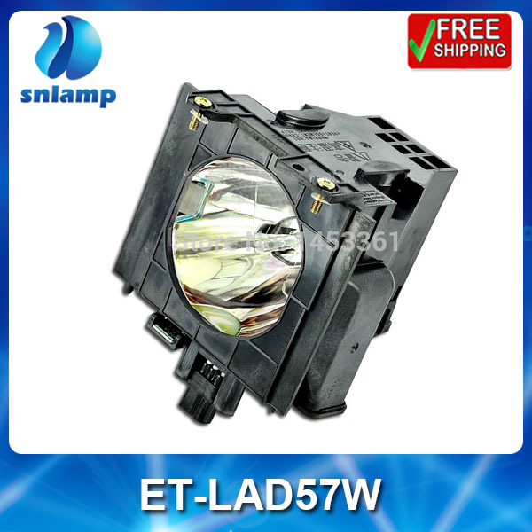 Replacement projector bulb lamp with housing ET-LAD57W for PT-D5700 PT-D5700L PT-D5700UL PT-DW5100 PT-DW5100L free shipping projector lamp projector bulb with housing et laa410 fit for pt ae8000 pt ae8000u
