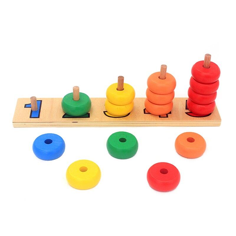 Kreis Form Baby Früh Lernen Holz Mathematische Entwicklung Intelligenz Bruchteil Bord Kinder Holz Bildung Puzzle Spielzeug Puzzles