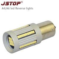 JSTOP high quality A4 A6 LED Ba15s P21W lights led 1156 white 6000k car lamps 12VAC External Lights Canbus led Reversing lights