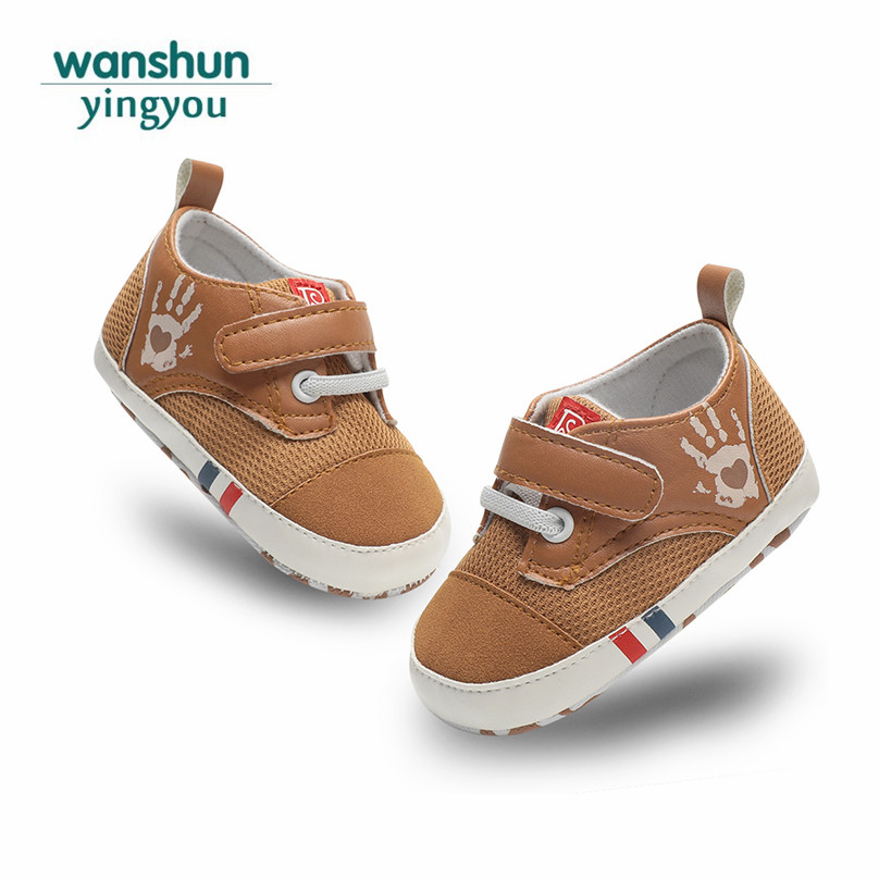 Baby boy crib shoes newborn fashion Skid-Proof moccasins soft sole hook loop Booties moccasins bebes sneaker pu spring infant