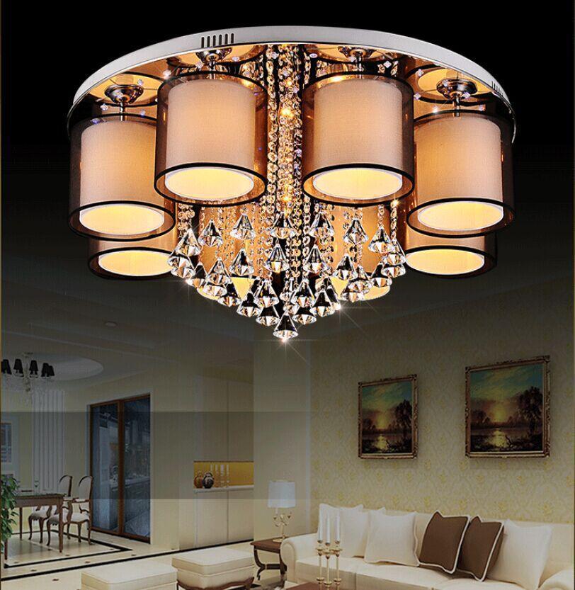LED Crystal Light Ceiling living room lamp bedroom ceiling led crystal Yilianyoumeng