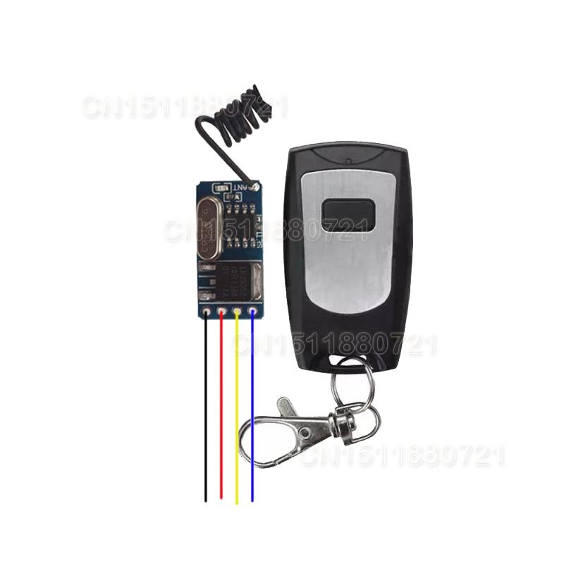 Door Access Electric Control Lock Mini Remote Control Switch 3V3.7V4.5V5V6V7.4V9V12V Lithium Battery Remote Switch M T L 315/433