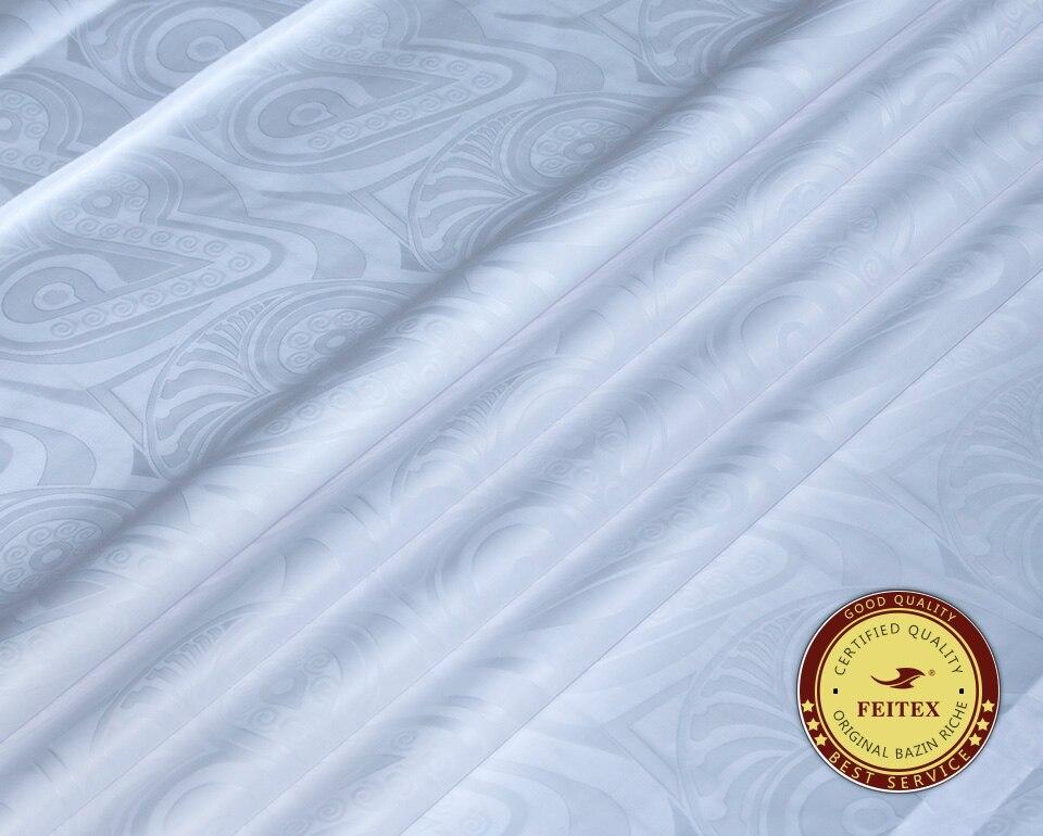 Tissu de vêtement africain 2019 Bazin Riche Getzner essayant brocart nouveau tissu de robe caftan blanc damassé Shadda 10 Yards/pièce
