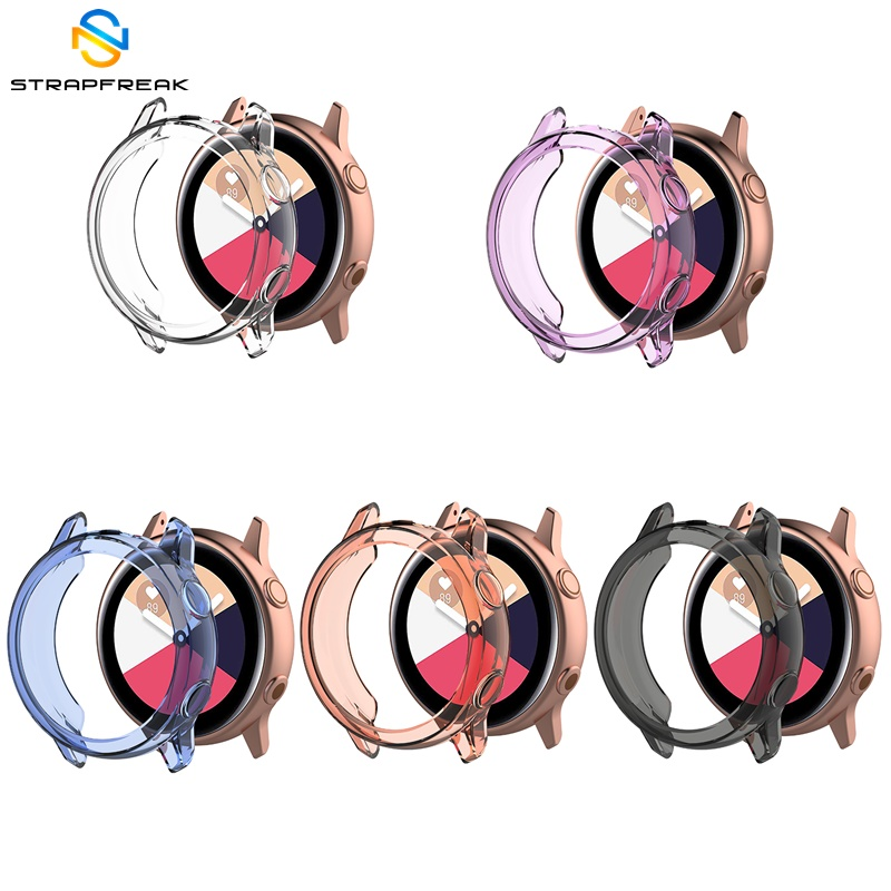 TPU Protective Case For Samsung Galaxy Watch Active SM-R500 Ultra-Thin Clear Soft Protector Cover Shell Full Protection Frame