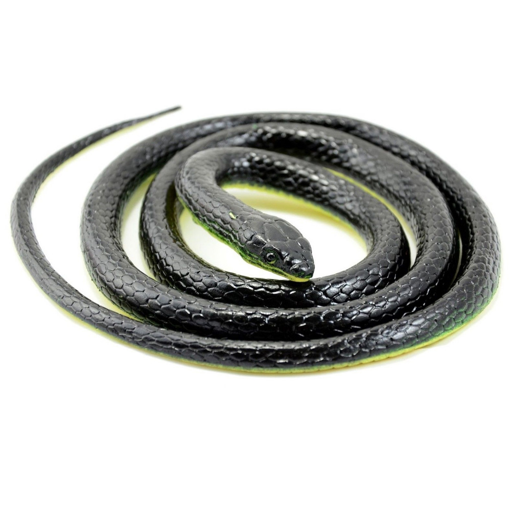 130cm Realistic Rubber Snake Toy Garden Props Joke Prank Gift Wild Reptile Kid