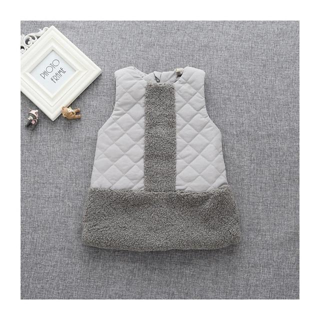 Patchwork Cotton Padded Fur Vest Baby Coat Cardigan Infantil Waistcoat Winter Fashion Toddler Girls Sleeveless Jacket Vest 2017