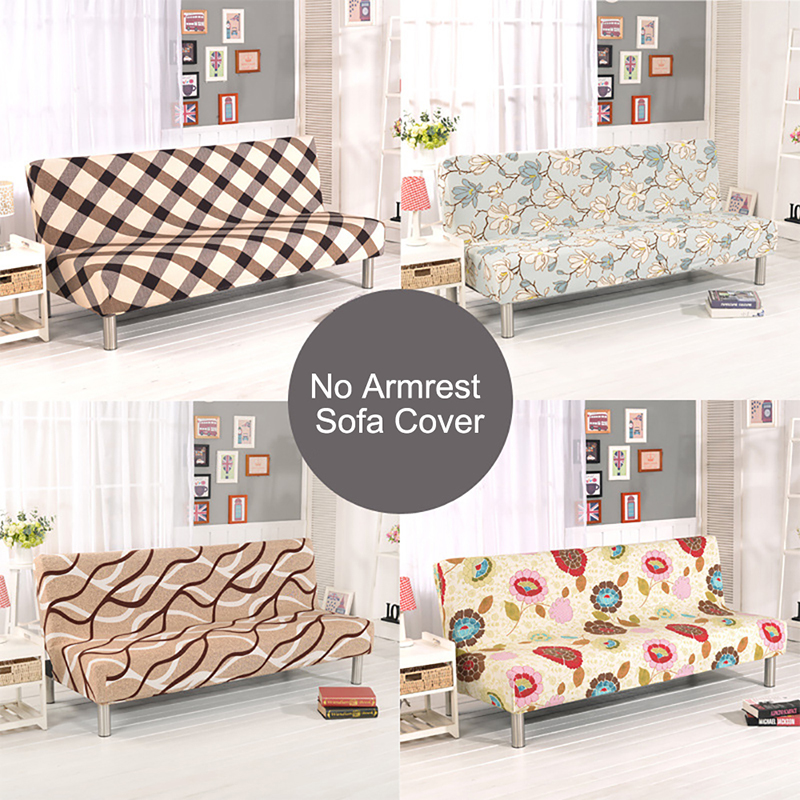 Morden simple folding Solid color and armrest sofa cover Slipcover polyester fabric whole turnkey seasons cloth