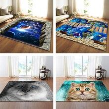 Nordic 3D печатные большие ковры Galaxy Space коврик для котов мягкие фланелевые коврики для гостиной домашний Декор салон