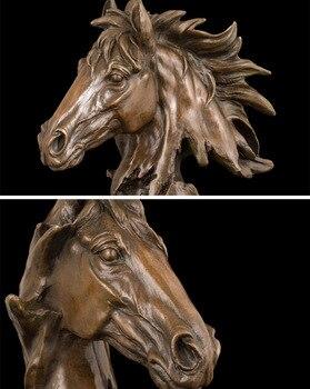 Copper Wall Decor | 2019 Home LIVING ROOM Wall TOP Decor ART--31 CM Success  Horse ART Bronze Statue Sculpture Decoration  Brass Decorative