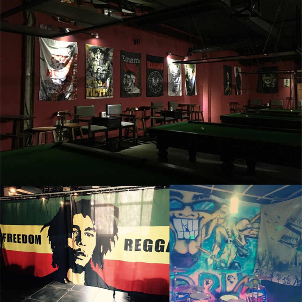 Hip hop's Jazz' s Reggae's Đá' s kim loại Nặng Âm Nhạc Áp Phích Retro Cờ Biểu Ngữ Tấm Thảm Vải Nghệ Thuật Tường sticker Bar Phòng Ngủ Trang Trí Nội Thất