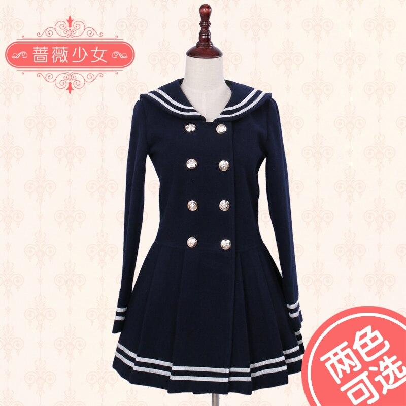Здесь продается  Lolita Dress Sailor Woolen Dress School Style Dress Korean Coat Custom Nade Free Shipping  Одежда и аксессуары