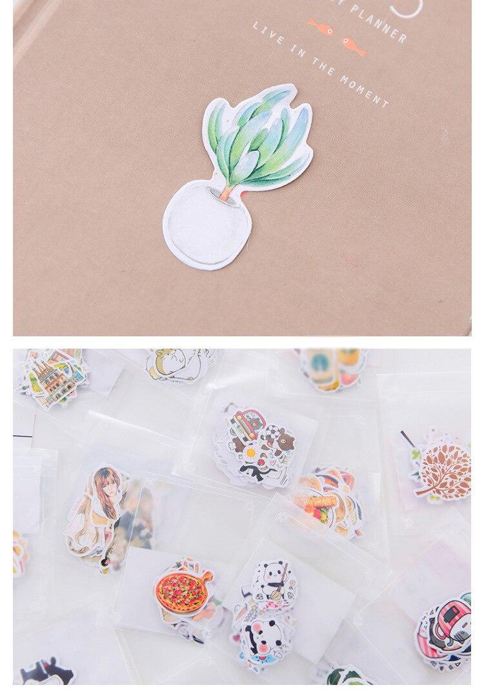 1 пакет, милые Мультяшные декоративные наклейки в Корейском стиле, клейкие наклейки, скрапбукинг, сделай сам, декоративные наклейки для дневника
