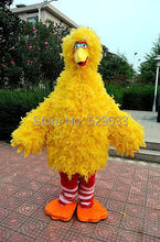 Yellow Feather Sponge Body Adult Big Bird Mascot Costumes Free Shipping High Quality