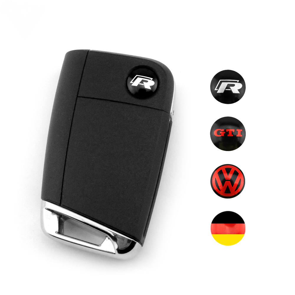 2pcs key fob logo german flag badge vw r gti emblem fit vw key scirocco mk6 golf r cc mk7 on. Black Bedroom Furniture Sets. Home Design Ideas