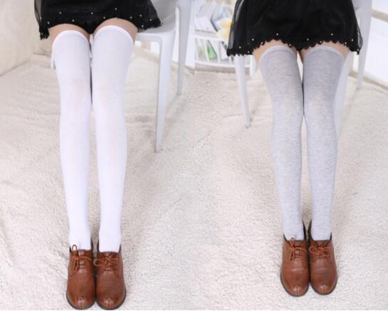 Cute Anime Cosplay Solid Stockings For Women Girls Over Knee High Fashion Lovely Elastic Warm Long Stockings