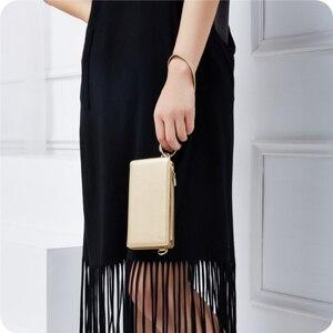 Image 2 - Musubo модная кожаная чехол для iPhone 7 Plus для девочек, роскошная сумка для телефона, чехол для iphone 8 плюс 6 6s плюс, Женский кошелек, Coque
