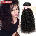 Бразильский Kinky Вьющиеся Волосы Девственницы 4 шт. Вьющиеся Переплетения Человеческих Волос Нет Клубок Afro Kinky Курчавый Бразильский Вьющиеся Дева волос