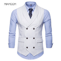 Vest Men Suit Waistcoat Autumn Springl 2019 New Arrvial Male High Quality Business Casual Vest