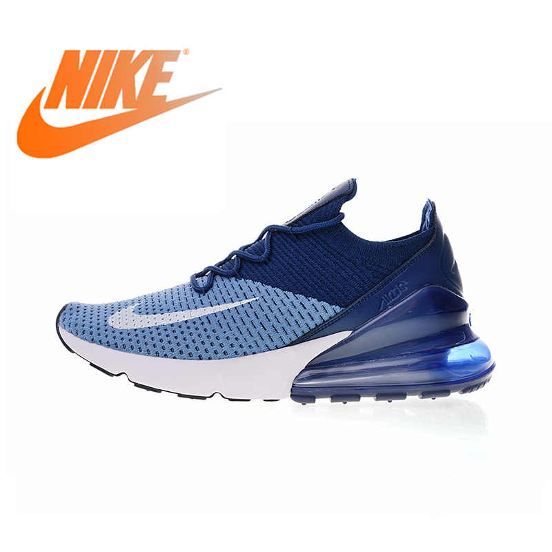 more photos c4a33 a2e23 Original Authentic Nike Air Max 270 Flyknit Men s Comfortable Running Shoes  Sport Outdoor Walking Sneakers Breathable