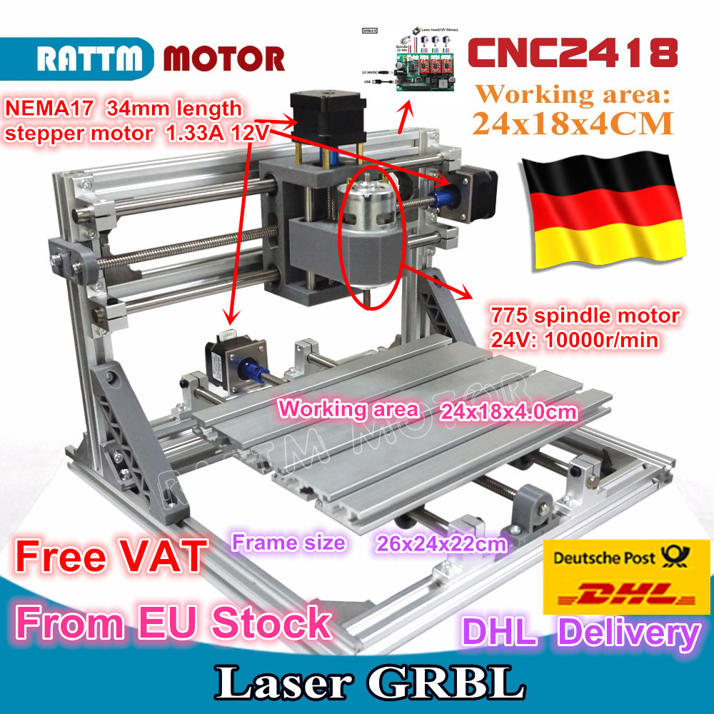 CNC 2418 GRBL control Diy CNC machine working area 24x18x4.0cm,3 Axis Pcb Pvc Milling machine Wood Router,Carving Engraver,v2.5 new grbl mini cnc machine wood router xyz 3 axis pcb milling cnc machine diy wood carving pvc engraver