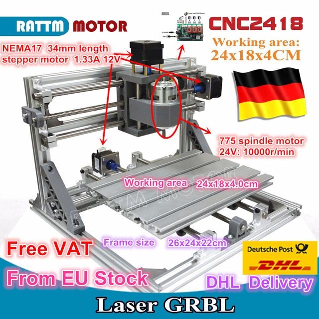 CNC 2418 GRBL control Diy CNC machine working area 24x18x4.0cm,3 Axis Pcb Pvc Milling machine Wood Router,Carving Engraver,v2.5