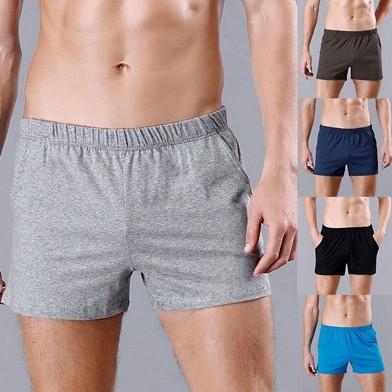 MoneRffi Mens Summer loose   Shorts   Fashion Cotton Boxers Men Breathable   Short   Sweatpants 2019 Casual   Shorts   cueca masculina