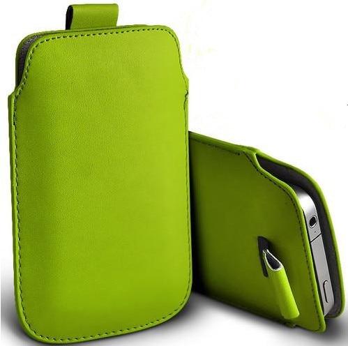 Nueva 13 colores pull up pouch bag case para philips xenium v377 de cuero pu bol