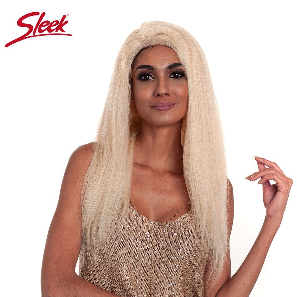 Sleek бразильский шелковистые прямые волосы 613 полная блондинка парики, кружева 150% плотность человеческих волос парики для черный Для женщин