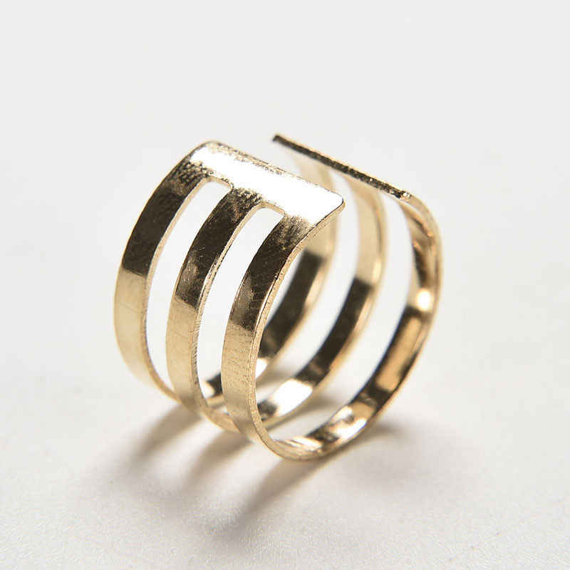 JETTINGBUY Nhẫn Hợp Thời Trang Đầu Finger Over The Midi Mẹo Finger Above The Knuckle Mở Ring Cho Phụ Nữ Vàng Sliver Plated 3 Cái/bộ