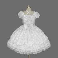 2018 Short Sleeve Classic Lolita Dress Vintage Style Criss Cross Neck OP Dress 7 Colors for Girl