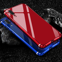 For Huawei P20 Case Luxury Glitter Hard Aluminum Metal Frame Armor Full Protective Back Phone Case