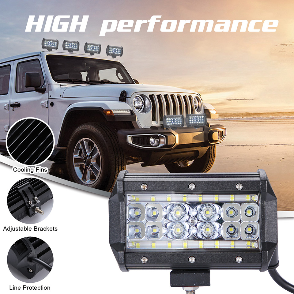 5 Inch 280W Led Work Light Bar Spotlight Offroad Car Headlight for Truck Tractor Boat Trailer 4x4 SUV ATV Driving Lamp
