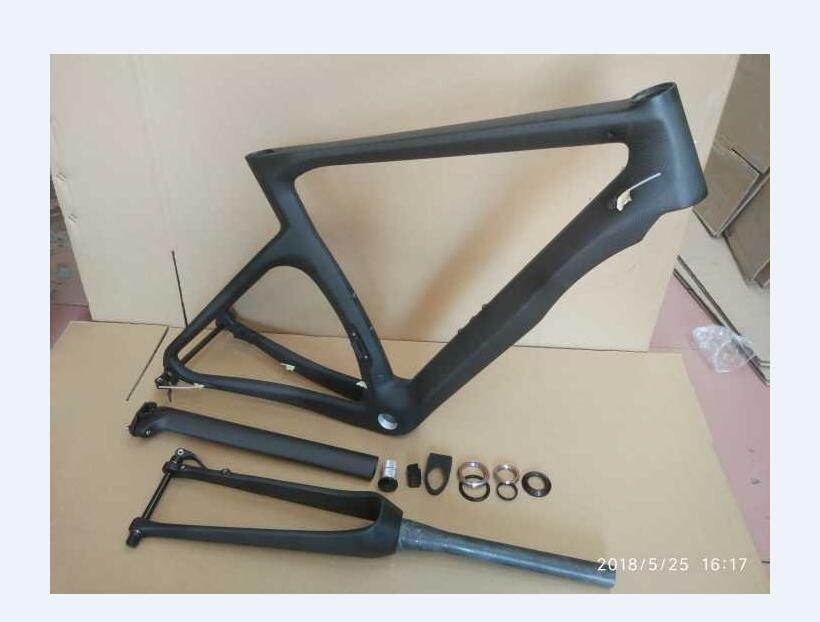 2 année garantie NK1K route cadre de vélo disque de vélo cadre en carbone mat fini argent couleur disque vélo carbone cadre freeshipping