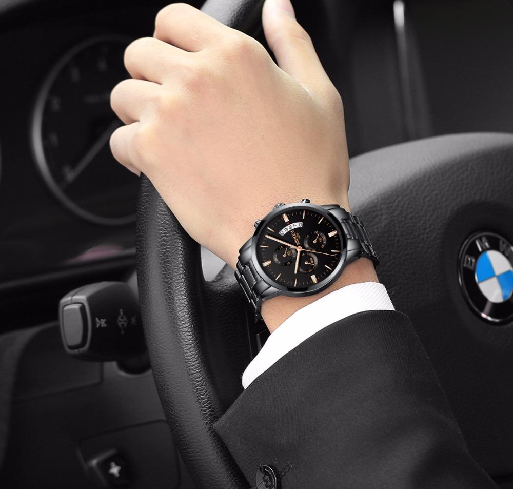 Relojes de hombre NIBOSI Relogio Masculino, relojes de pulsera de cuarzo de estilo informal de marca famosa de lujo para hombre, relojes de pulsera Saat 12
