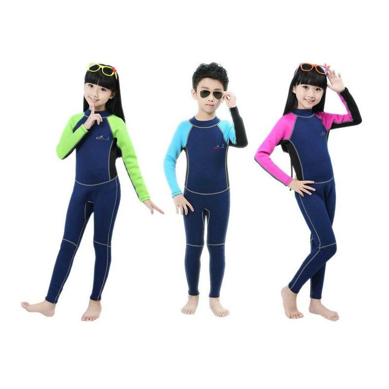2mm d'épaisseur enfants combinaison Siamese méduse vêtements protection solaire vêtements enfants surf plongée costume M094